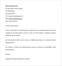sample financial reference letter template 6 free