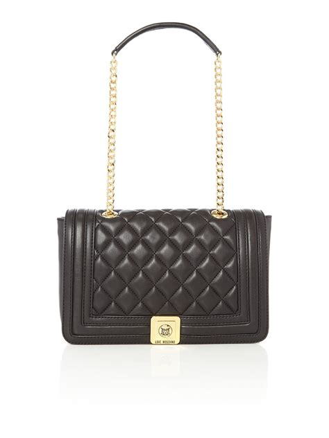 Moschino Bag moschino superquilt black shoulder bag in black lyst