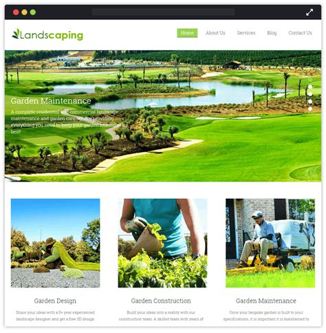 Landscaper Theme 11 Best Landscaping And Gardening Themes