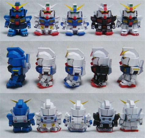 Papercraft Gundam Template - papercraftsquare new paper craft wxy s 5cm gundam