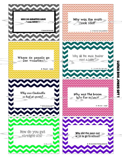 printable lunch notes jokes instant download school lunch box jokes 8 printable