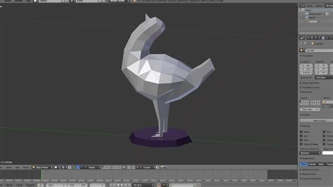 Blender Papercraft - trash dove papercraft part1 modeling dựng h 236 nh