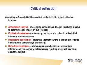 review structured reflective template critical reflective writing