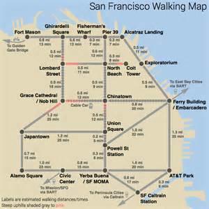 San Francisco Subway Map by San Francisco Subway Style Walking Map Visual Ly
