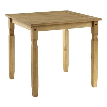 Square Pine Dining Table Corona Solid Pine Square 2 Seater Dining Table Furniture123