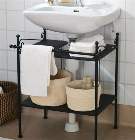 bathroom tidy ideas keep a tidy bathroom with ikea ronnskar sink shelf it s