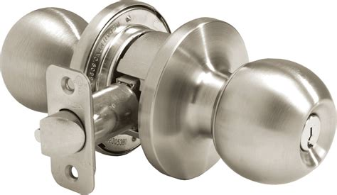 Commercial Door Knob by Pamex Ft364b Satin Stainless Steel Solid Brass Grade 2
