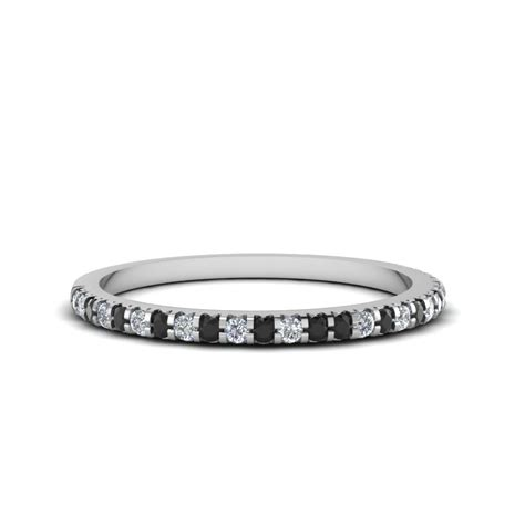 18k white gold black wedding band fascinating