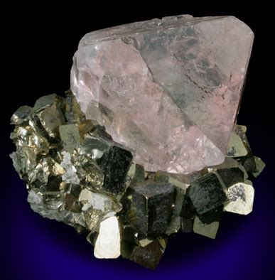Green Brazil Fluorite photographs of mineral no 42109 fluorite on pyrite from huanzala mine huallanca district
