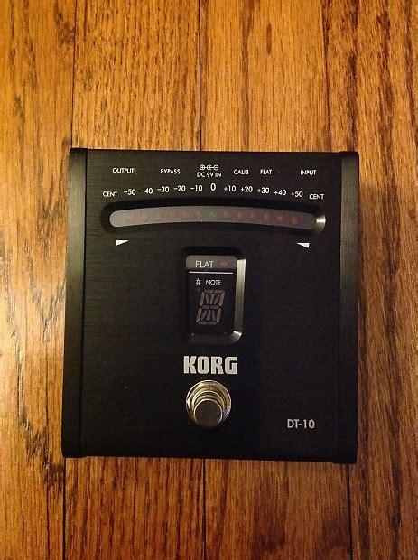 Korg Digital Pedal Tuner Dt 10 korg dt 10 chromatic digital tuner pedal black reverb