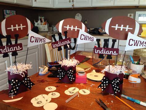 football banquet centerpiece ideas football basketball cheer cheerleading decorations