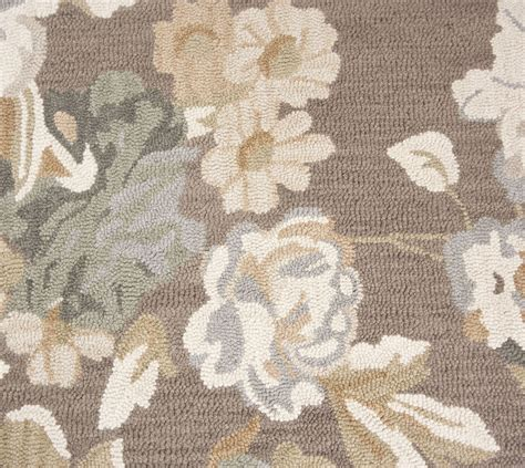 beautiful wool area rug 8x10 contemporary modern floral handmade brown