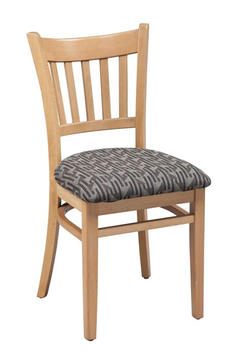 Upholstered Seat Dining Chairs Regal Seating Series 423 Vertical Back Commercial Wooden Dining Chair With Upholstered Seat