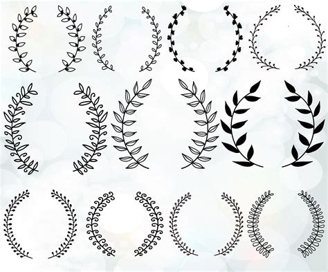 Laurel Wedding Clipart by Vintage Laurel Wreath Clipart Laurel Wreaths Svg