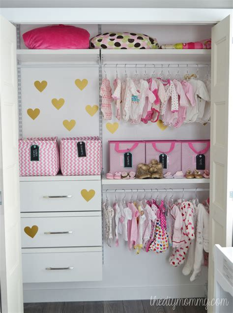 Baby In Closet by An Organized Baby Closet With Closetmaid Shelftrack Elite