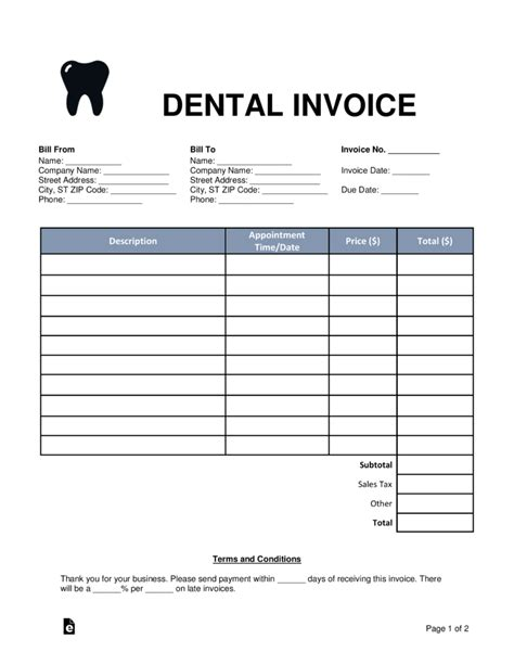 dental office receipt template dental invoice template pdf hardhost info
