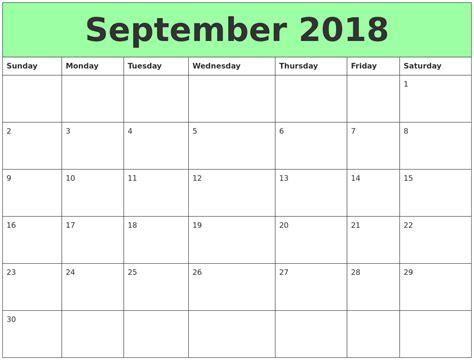printable calendar september 2018 september 2018 printable calendars
