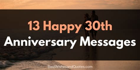romantic and beautiful messages for a happy 30th anniversary