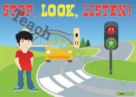 stop look and listen a toolbox for creating healthy boundaries books road safety poster crossing the road