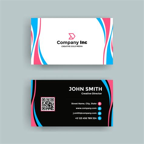 bright pink green abstract business card business cards