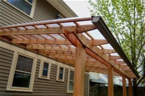 Patio Gutters by Pergola Patio Roof With Gutter Outdoor Home Ideas