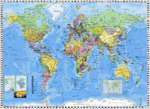 World Map Wall by World Map Wall Mural Pr94055