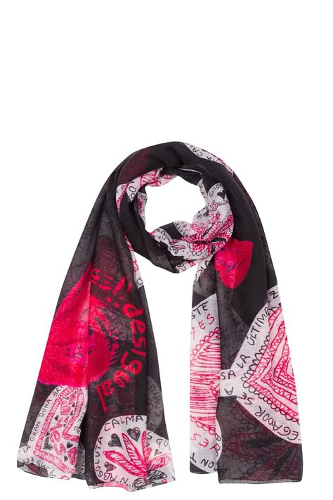 desigual hearts design scarf from toronto by eye on