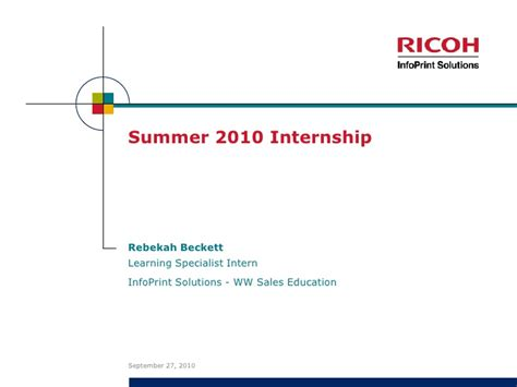 Mba Summer Internship Presentation Ppt by Presentation Of Internship
