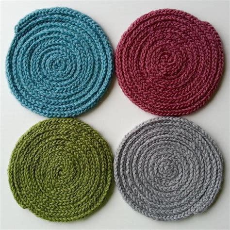 knitted coasters free patterns knit gifts to make for all your friends this