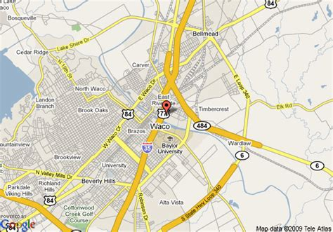 waco texas on a map map of hotel waco waco