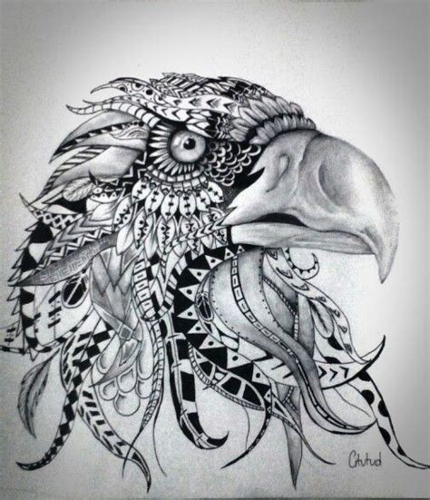 doodle eagle drawn by c itutud using ball point uni pin