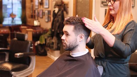 step by step men faded hair cut with layers men s fade haircut for curly hair