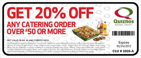 printable subway catering coupons catering menu coupon 20 off any catering order of 50