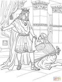 Mephibosheth Coloring Page david helps mephibosheth coloring page free printable