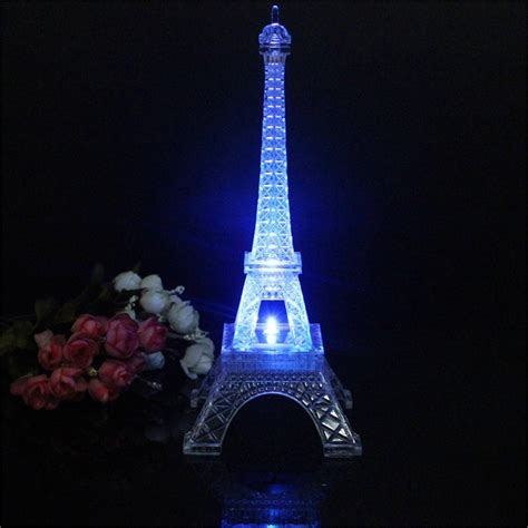 color changing night light mini color changing eiffel tower night light led