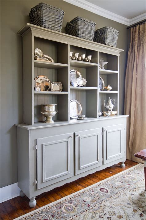 Grey Dining Room Hutch The Collected Interior Gray Hutch