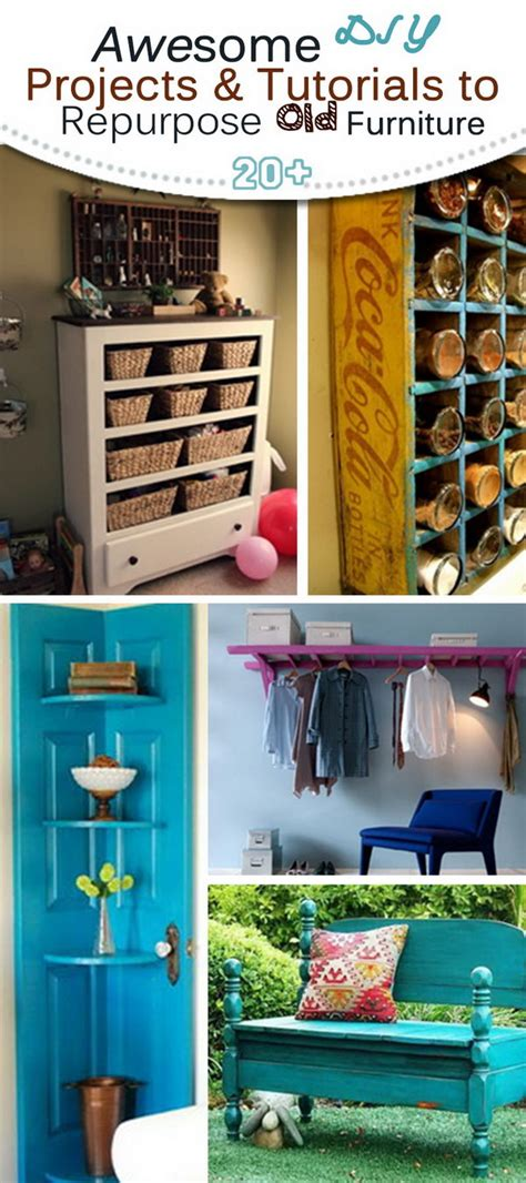 20 creative ideas and diy projects to repurpose old furniture 20 awesome makeover diy projects tutorials to