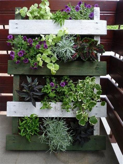 vertical pallet garden ideas   backyard  balcony