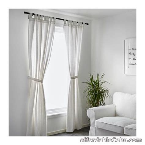 lenda curtains lenda curtains white product of sweden for sale outside