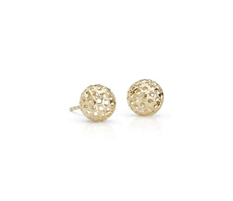 in stud earrings carved stud earrings in 14k yellow gold 8mm blue nile