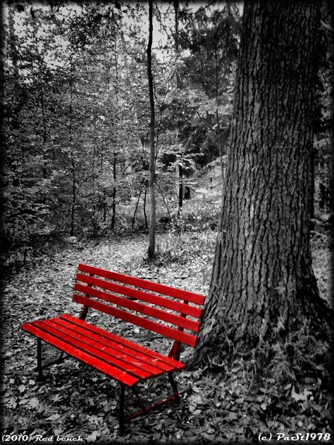 Red Bench By Past1978 On Deviantart