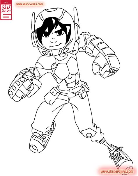 Big Hero 6 Coloring Pages Disney Coloring Book Big 6 Coloring Pages
