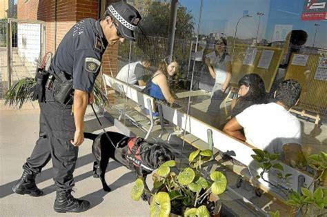 perros policía para poner coto al consumo de drogas en las