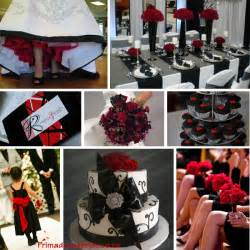 Red Black And White Wedding Black Primadonna Bride