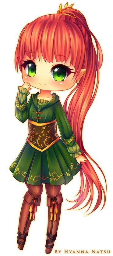 cute anime chibi girl with red hair commission elora by hyanna natsu on deviantart chibi