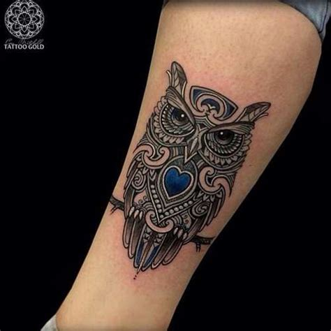 small leg tattoos small owl leg shortlist