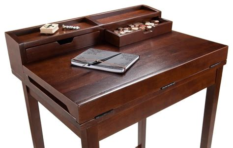 winsome wood brighton high desk with 2 drawers x 82649
