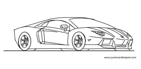 lamborghini aventador drawing how to draw a lamborghini aventador step by step junior