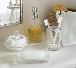 Glass Bathroom Accessories Pb Classic Glass Bath Accessories Traditional Bathroom Canisters By Pottery Barn