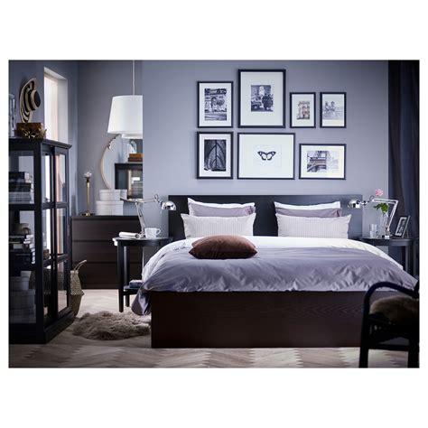 malm headboard storage discontinued malm bed frame high w 2 storage boxes black brown lur 246 y